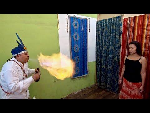 Ecuadorian Shaman does spiritual cleansing (limpia espiritual) for ASMR