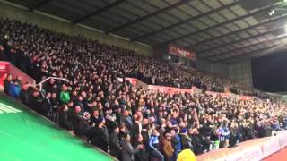 Sheffield Wednesday fans away at Stoke