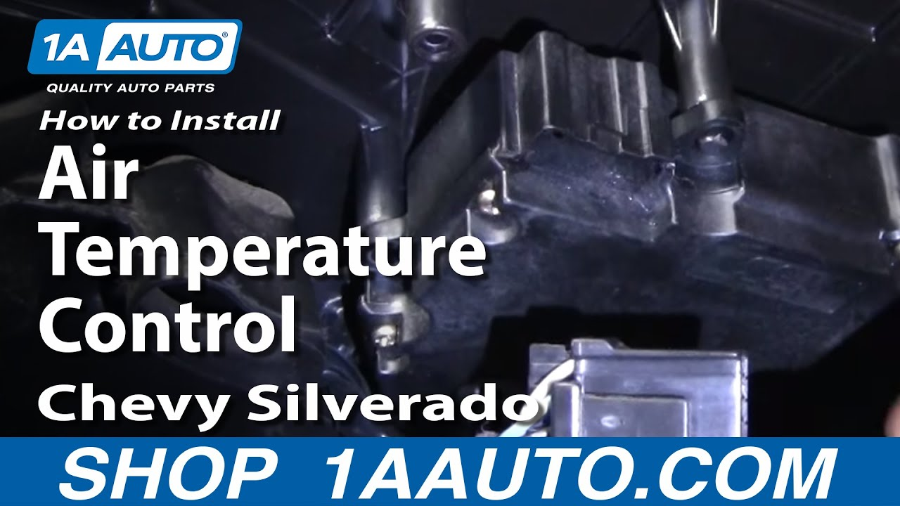 How To Replace Air Temperature Control 00 13 Chevy