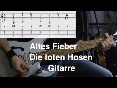 Altes Fieber Gitarre Tutorial Noten Tabs