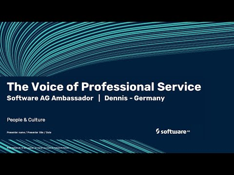 The Voice of Professional Service | Software AG's ambassador Dennis | Germany