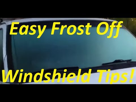 Frost off Windsheild Tip by Perry Window Cleaning