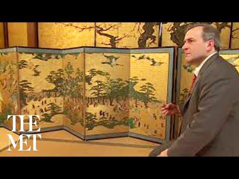 "Japanese Screens ""Amusements at Higashiyama in Kyoto"" | MetCollects"