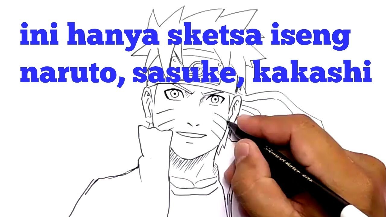 SKETSA ISENG AJA Just Skecth Naruto Sasuke And Kakashi