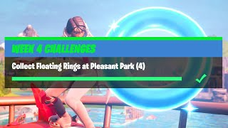Collect Floating Rings at Pleasant Park (4) All Locations - Fortnite Week 4 Challenges