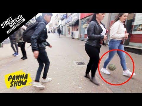 CRAZY PUBLIC NUTMEGS! (UK Vs. BELGIUM) | PANNA SHOW  | Street Soccer International