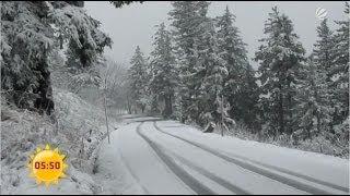 Der Erste Schnee In Deutschland Sat 1 Frühstücksfernsehen