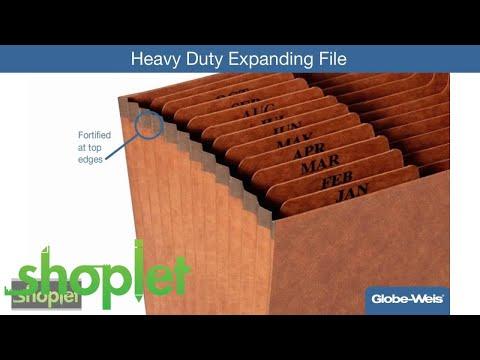 Globe Weis Heavy Duty Expanding File