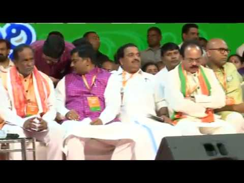Shri Jagat Prakash Nadda addresses public Meeting in Nampally, Hyderabad
