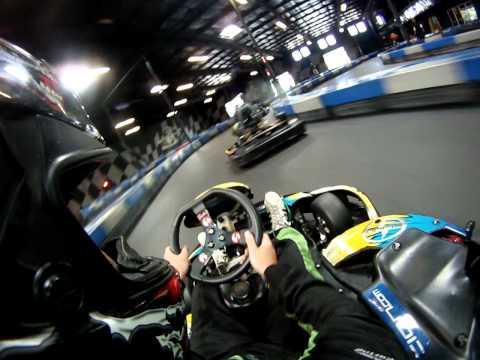Super Fast Indoor Go Kart Racing GoPro HD