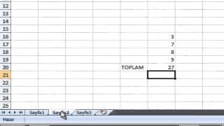 Excel Formulleri : Farklı Sayfadaki Verileri Toplama