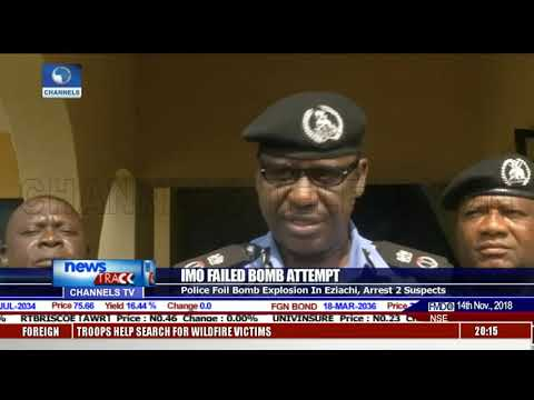 Imo Failed Bomb Attempt: Police Foil Bomb Explosion In Eziachi, Arrest Two Suspects