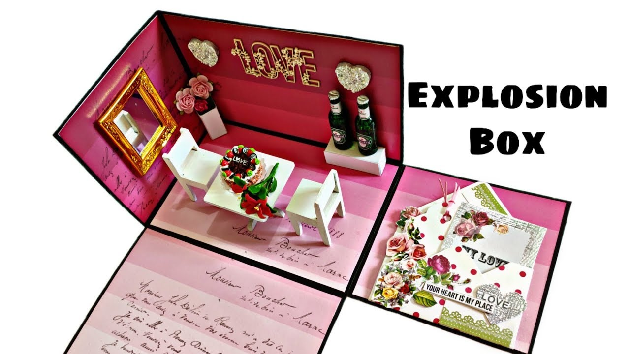 Diy Anniversary Explosion Box Anniversary Gift Idea Requested Video Youtube