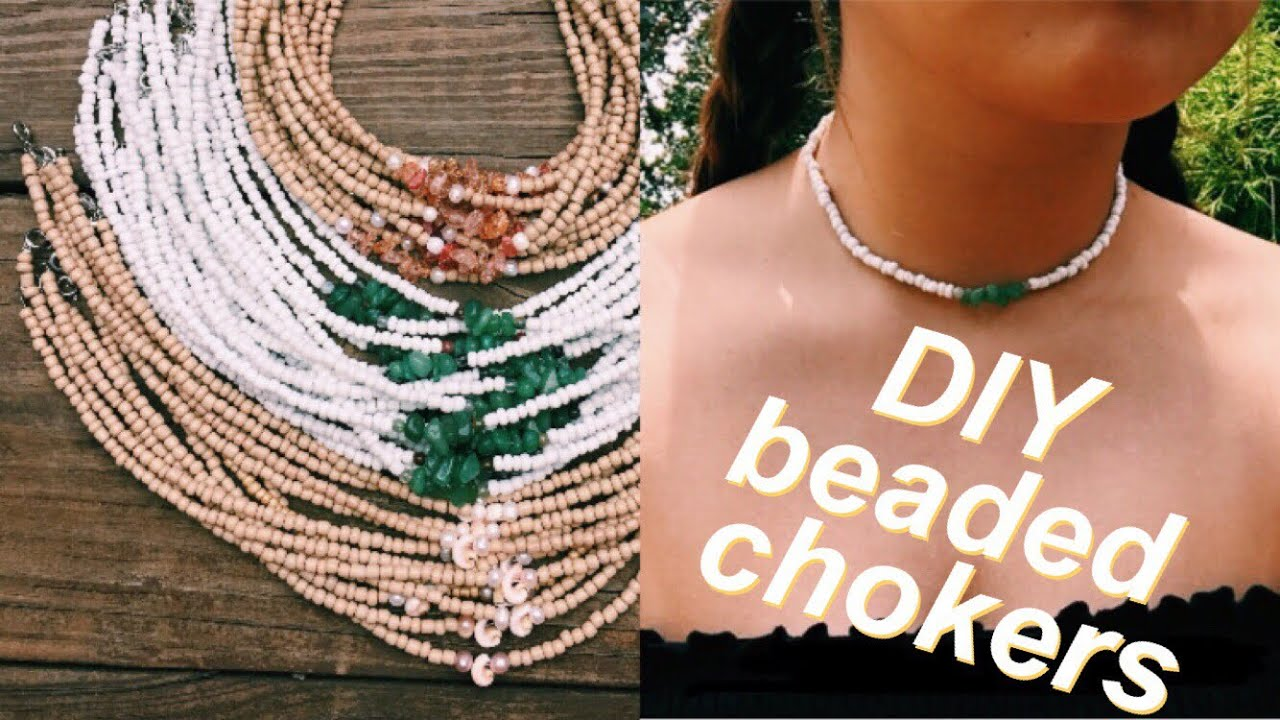 0f03f0e9dd00c HOW TO make beaded chokers for SUMMER !! 2018