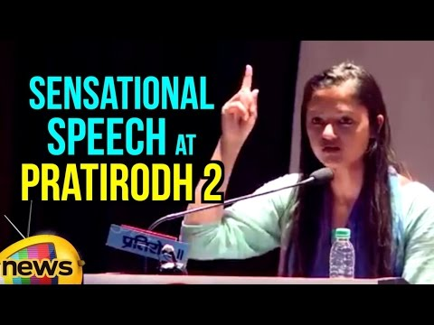 JNU Student Shehla Rashid Sensational Speech at Pratirodh 2 | JNU Row | Mango News