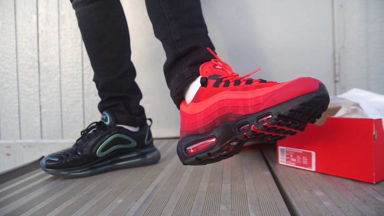 "competitive price 98541 e0b55 Back to back NOPE's for Corey Nike Air Max 95 OG ""Habanero Red"" (Dope or  Nope) + On Foot"