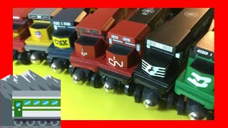 HD Compilation unpack 7 different Whittle Shortline Wooden Trains (03308 z)