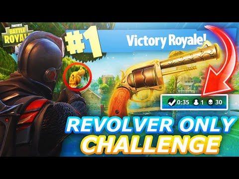 Insane Revolver ONLY Challenge - Fortnite Battle Royale - High Kill Game??