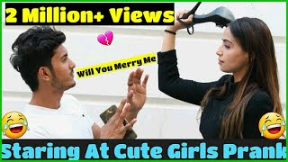 Staring At Cute Girls || Prank with Love || Sam Khan