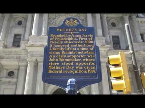 Mother's Day holiday founded in Philadelphia, Pennsylvania