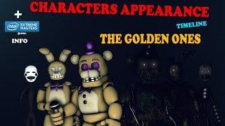 [SFM FNAF] Golden Ones - Characters Appearance Timeline ''Series Backstage'' | Bertbert