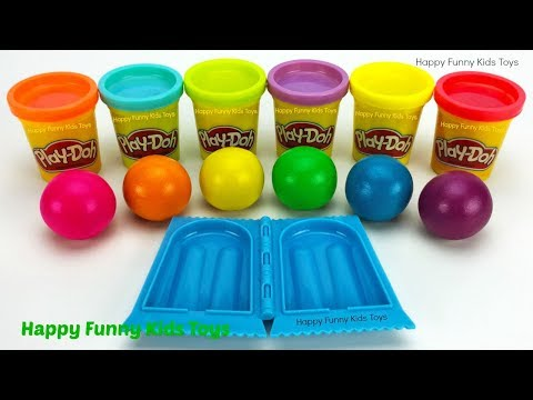 Making Ice Cream Popsicle with Play Doh Balls Surprise Eggs Zuru 5 Surprise Toys