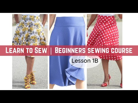 Beginner's Sewing Course - Project #1 - Circle Skirt (Part 2)