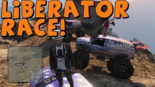GTA 5 Online | 3 Liberators Race To The Dam | Feat Benstonator101 and MrDevil
