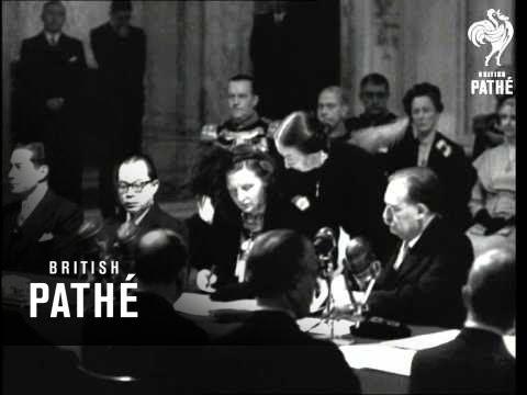 Dutch Queen Signs Away An Empire (1950)