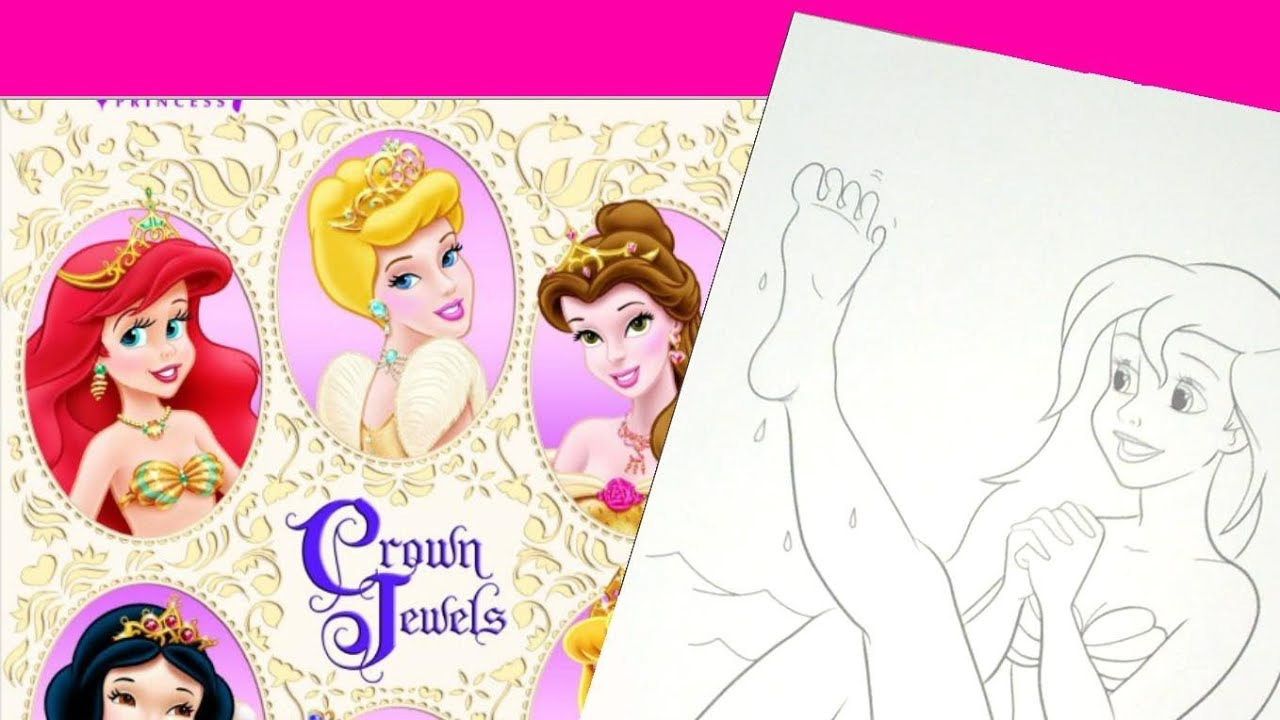 Coloring book princess crowns - Disney Princess Crown Jewels Sticker Coloring Golden Book Review 03 11 2013 Day 70 Youtube