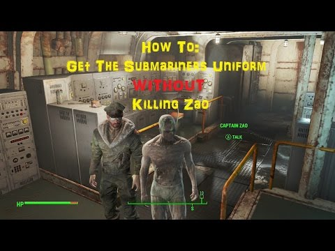 How To: Get The Submariners Uniform WITHOUT Killing Captain Zao - Fallout 4