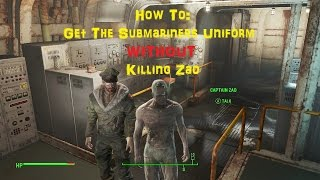 How To Get The Submariners Uniform WITHOUT Killing Captain Zao - Fallout 4