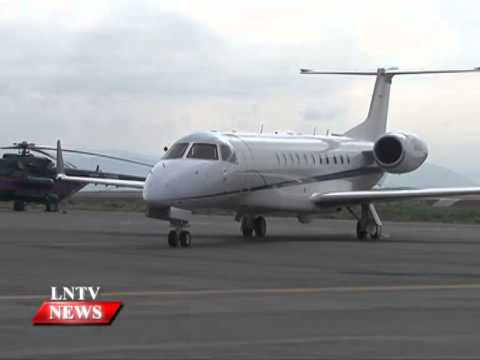 Lao NEWS on LNTV: Flights have yet to land at Attapeu International Airport.29/6/2015