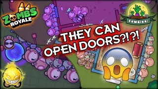 Zombs Royale - RUN FOR YOUR LIFE!!! -- They Can Open Doors Now?!?!?!?!