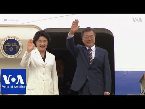 South Korea's Moon heads to Washington