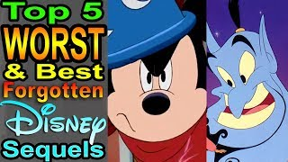 Top 5 Worst & Best Forgotten Disney Sequels (Animated)
