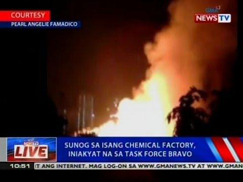 NTVL: Sunog sa isang chemical factory sa Quezon City, iniakyat na sa Task Force Bravo
