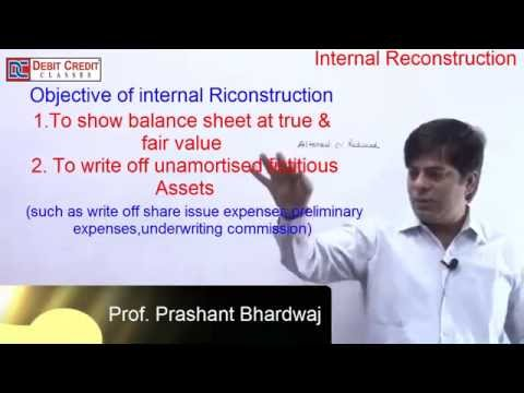 INTERNAL RECONSTRUCTION & CAPITAL REDUCTION : LECTURE 1 INTRODUCTION