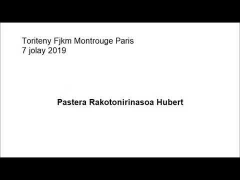 Toriteny Fjkm Montrouge Paris 07 Jolay 2019 Pr Rakotonirinasoa Hubert