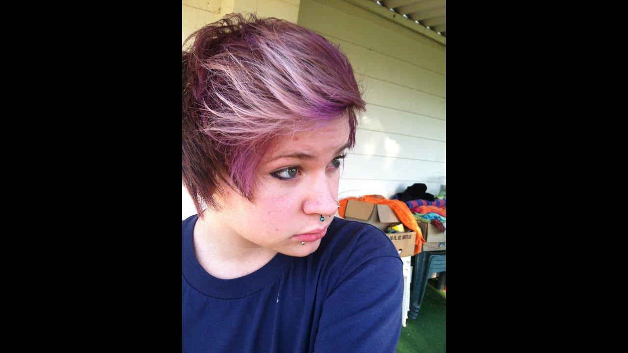 dye hair eggplant