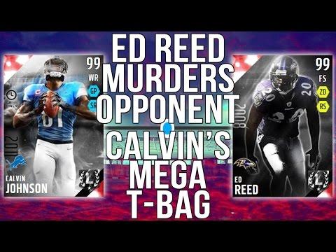 Boss Ed Reed MURDERS opponent with HITSTICK!Boss Calvin Johnson with MEGA T-BAG!Madden 16 MUT