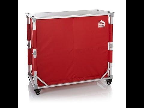 HGTV HOME Folding Portable Outdoor Bar Set - YouTube on Portable Backyard Bar id=34221