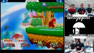 MojoMonkey/Jason vs Switch/SNESROX (Smash 64 Doubles RainCity 2)