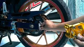 Cara pasang standhook/cakar arm di Suzuki Satria Fu 150