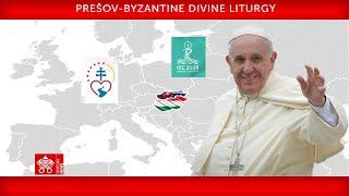14 September 2021, Prešov-Byzantine Diטine Liturgy - Pope Francis
