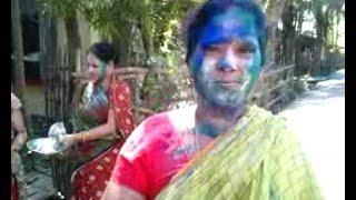 Indian Sexi Bhabi Play Holi  - 2016