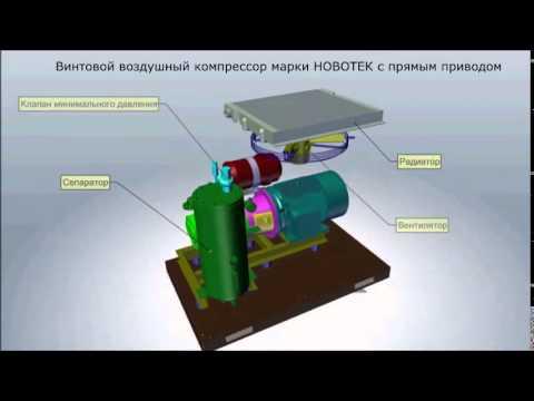 Винтовой компрессор EKOMAK DMD 150 - YouTube