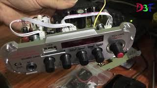 Mở ruột em amply mini karaoke 12v Kengtiger HY 600 - kết nối  Bluetooth-  rẻ mà chất