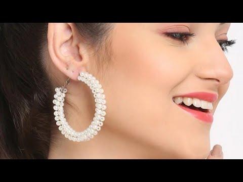 DIY Hoop Earring   How to Make Hoop Earring at Home   5 minutes Jewelry ideas