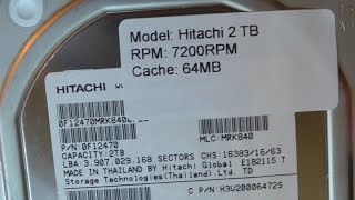 HITACHI 2TB HUA723020ALA641 Ultrastar 7K3000 HARD DRIVE Amazon unboxing
